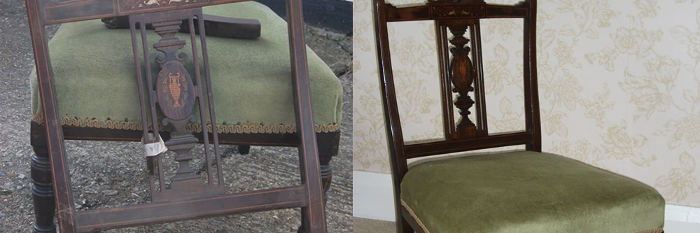 Edwardian nursing chair repairs