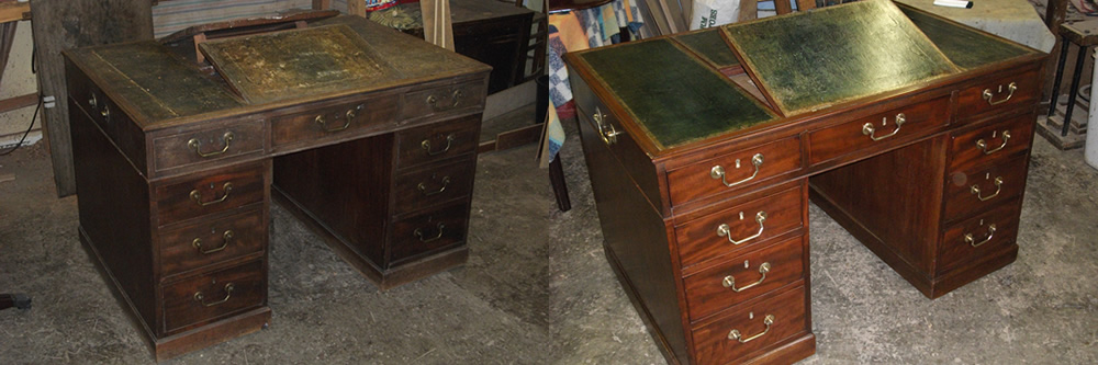 Antique furniture restoration and leather desk lining in Southend-on-Sea, Leigh-on-Sea Westcliffe-on-Sea Billericay Rayliegh Hockley Hawkwell Rochford Ashingdon Chelmsford Essex