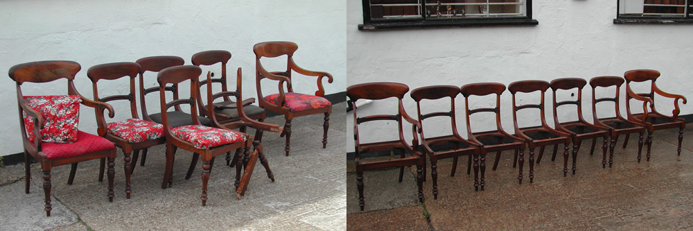 Antique chair restoration French polishing structural repairs in Southend-on-Sea, Leigh-on-sea, Westcliff-on-Sea, Hockley, Hawkwell, Ashingdon, Rochford, Billericay, Benfleet, Chelmsford, Essex