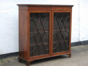 Glazed mahogany display cabinet